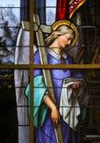 Vitral - alegoría en el sufrimiento de Jesús foto de archivo libre de regalías