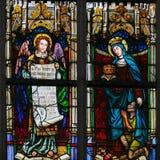 Vitral - anjo, Saint Elizabeth de Hungria ilustração do vetor