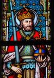 Vitral - Charlemagne fotografia de stock