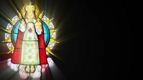 Vitral com Jesuschild (laço sem emenda) ilustração royalty free