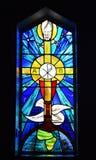 Vitral da igreja Imagens de Stock