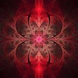 Vitral de incandescência abstrato com teste padrão floral no fundo preto Foto de Stock Royalty Free