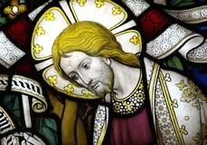 Vitral de Jesus Christ imagem de stock