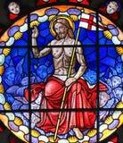 Vitral de Jesus Christ na basílica da Bolonha Foto de Stock
