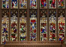 Vitral de la abadía del baño en el baño Somerset South West E Imagen de archivo
