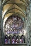 Vitral de la catedral de Amiens, Francia fotografía de archivo libre de regalías