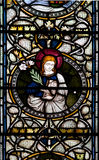 Vitral de la catedral de Christchurch Imagenes de archivo