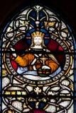 Vitral de la catedral de Christchurch Imagen de archivo libre de regalías