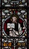 Vitral de la catedral de Christchurch Fotografía de archivo libre de regalías