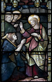 Vitral de la catedral de Christchurch Fotografía de archivo