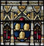 Vitral de la catedral de Christchurch Foto de archivo libre de regalías
