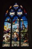 Vitral de la catedral de St. Louis imágenes de archivo libres de regalías