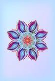 Vitral de la flor del ornamento Imagen de archivo libre de regalías