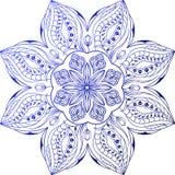 Vitral de la flor del ornamento Foto de archivo libre de regalías