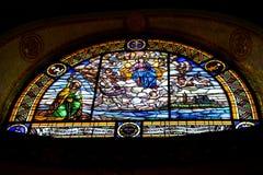 Vitral de Virgen Imagen de archivo