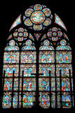 Vitral del Cathedrale Notre Dame Imagenes de archivo