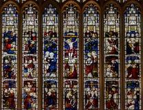 Vitral del este en St Mary Magdalene Church Imagen de archivo libre de regalías
