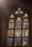 Vitral del icono de la iglesia Fotografía de archivo