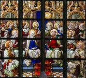 Vitral - domingo de Pentecostes fotografia de stock