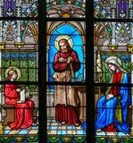 Vitral - el estudiar de Jesús Imagen de archivo