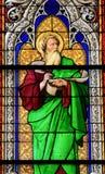Vitral - el profeta Ezechiel foto de archivo