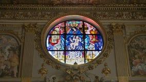 Vitral en el maggiore de Santa María de la basílica, Roma, metrajes