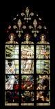 Vitral en iglesia Imágenes de archivo libres de regalías