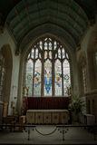 Vitral en iglesia foto de archivo libre de regalías