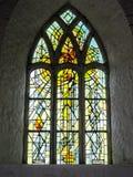 Vitral en la abadía de Ballintubber fotos de archivo libres de regalías