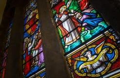 Vitral en la abadía de Hexham Fotografía de archivo libre de regalías