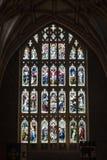 Vitral en la abadía A de Tewkesbury Imagen de archivo