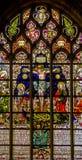 Vitral en la catedral Foto de archivo libre de regalías