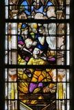 Vitral en la catedral de Ruán Fotografía de archivo
