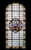 Vitral en la catedral de Subotica Fotos de archivo