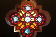 Vitral en la sinagoga Foto de archivo libre de regalías