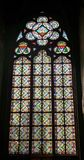 Vitral-Fenster in der Kathedrale Notre Dame Stockbilder