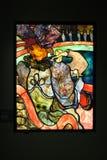 Vitral Henri de Toulouse-Lautrec, Louis Comfort Ti foto de archivo
