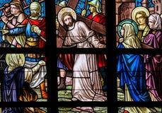 Vitral - Jesús en vía Dolorosa fotos de archivo