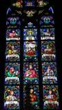 Vitral - madre Maria y profetas Imagenes de archivo