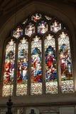 Vitral no interior da abadia do banho Fotografia de Stock Royalty Free