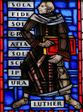 Vitral nos sem-fins - Martin Luther Fotografia de Stock Royalty Free