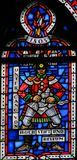 Vitral nos sem-fins - soldado francês Imagens de Stock Royalty Free