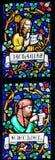Vitral - profetas Zechariah y Ezekiel fotografía de archivo libre de regalías