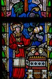 Vitral - sacerdócio Fotografia de Stock Royalty Free