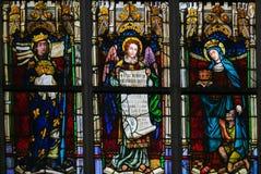 Vitral - Saint Louis de França, anjo, Saint Elizabeth de ilustração royalty free