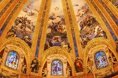 Vitral San Francisco el Grande Madrid Spain da abóbada Imagens de Stock