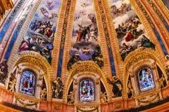 Vitral San Francisco el Grande Madrid Spain de la bóveda Foto de archivo