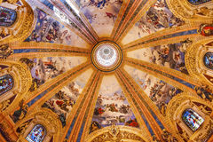 Vitral San Francisco el Grande Madrid Spain de la bóveda Foto de archivo libre de regalías