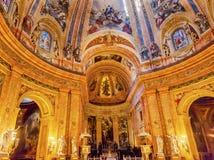 Vitral San Francisco el Grande Madrid Spain de la bóveda Fotos de archivo libres de regalías