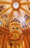 Vitral San Francisco el Grande Madrid Spain de la bóveda Imagen de archivo libre de regalías